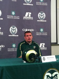 Richburg at College Press Conference
